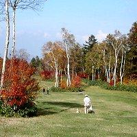 秋のゲレンデを散歩