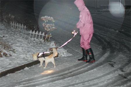 雪♪♪♪カッパはピンク♪