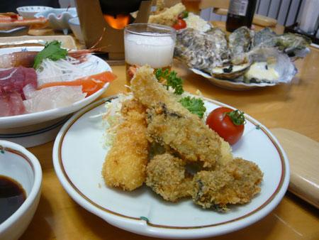 牡蠣フライ。
